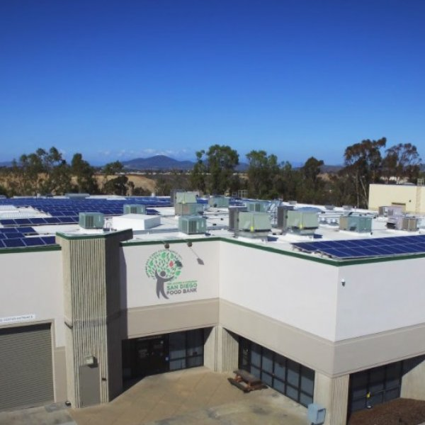 The Jacobs & Cushman San Diego Food Bank commercial solar san diego solutions