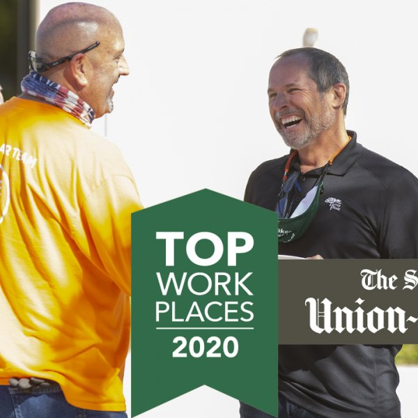 THE SAN DIEGO UNION-TRIBUNE NAMES BAKER ELECTRIC A WINNER OF THE SAN DIEGO TOP WORKPLACES 2020 AWARD